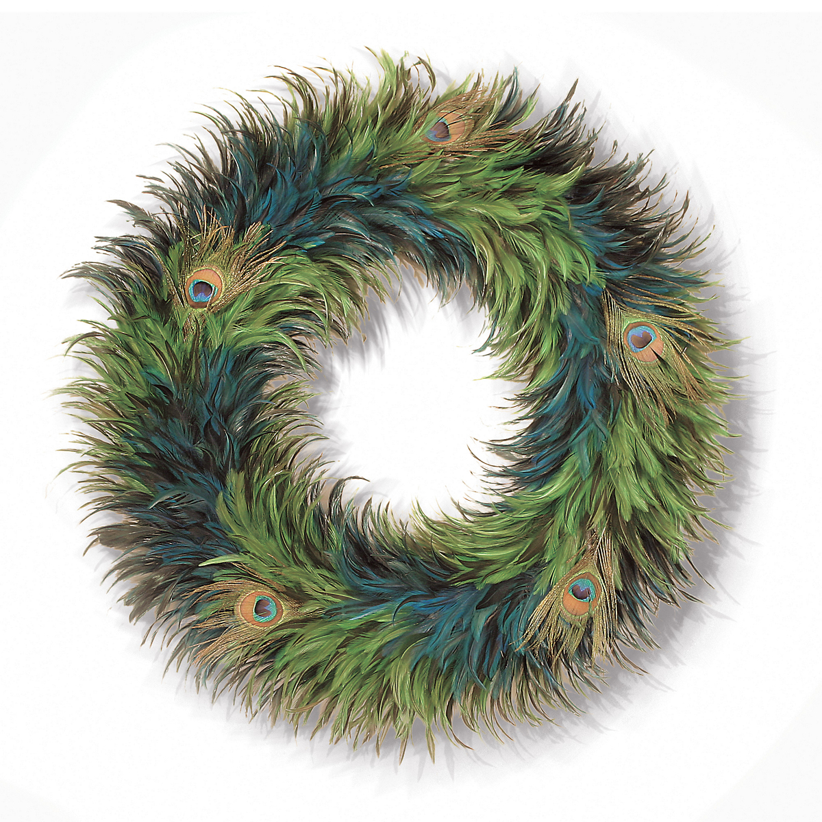 Royal Peacock Feathers Wreath