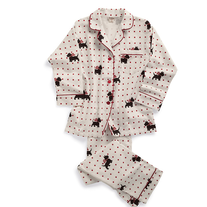 Scottie Dog Flannel Pajamas Gump S