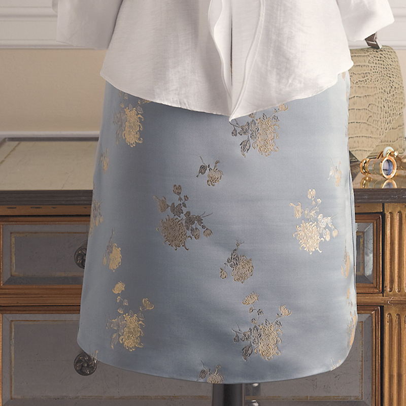 Silk Brocade Skirt