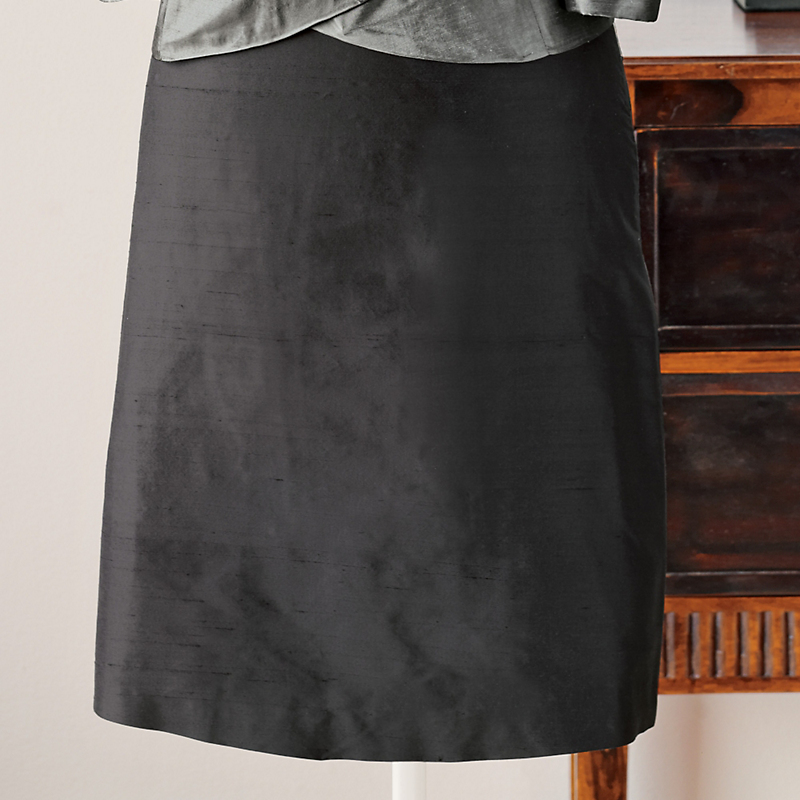 Silk Dupioni Cocktail Skirt