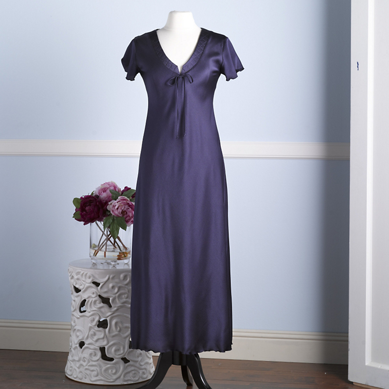 Bias-Cut Satin Nightgown