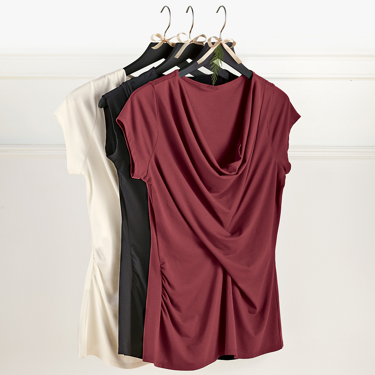 Draped Jersey Top
