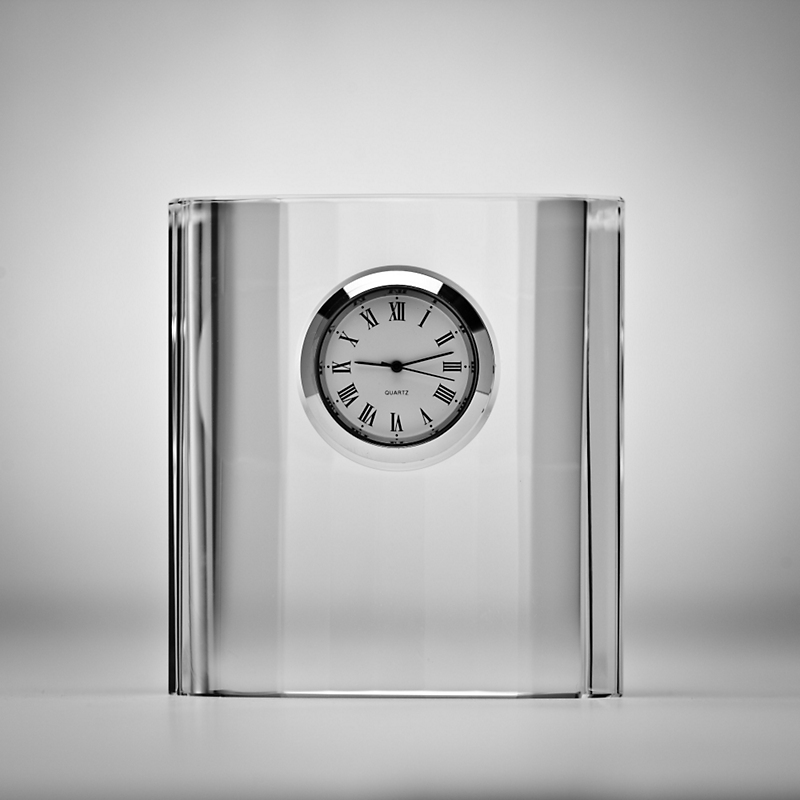 Crystal Oval Clock