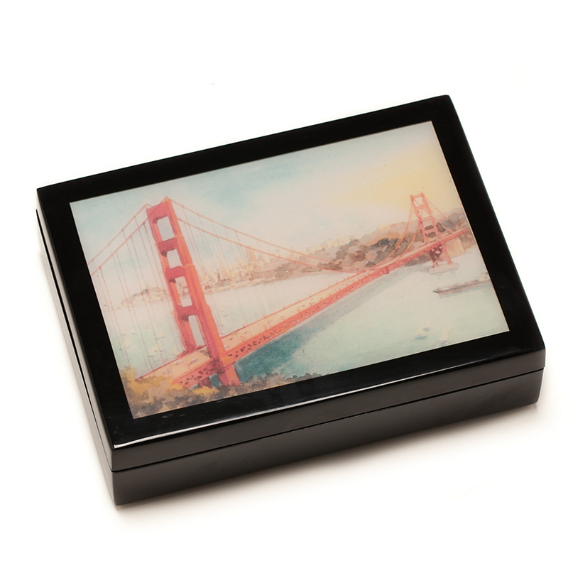 San Francisco Lacquer Box, Medium