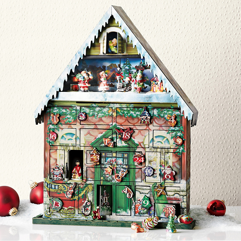Animated north pole musical advent calendar gump 39 s for Christmas house music