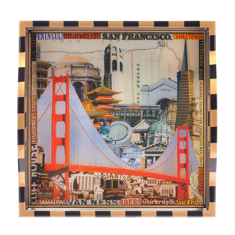 Annie Modica Small Golden Gate Bridge Tray