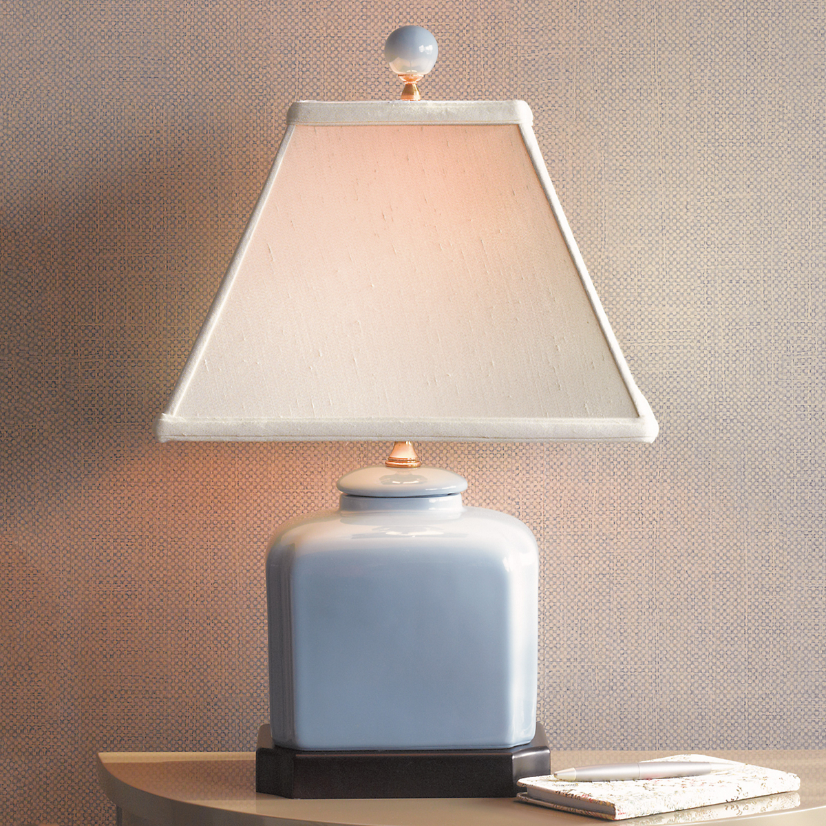 Blue Jar Lamp
