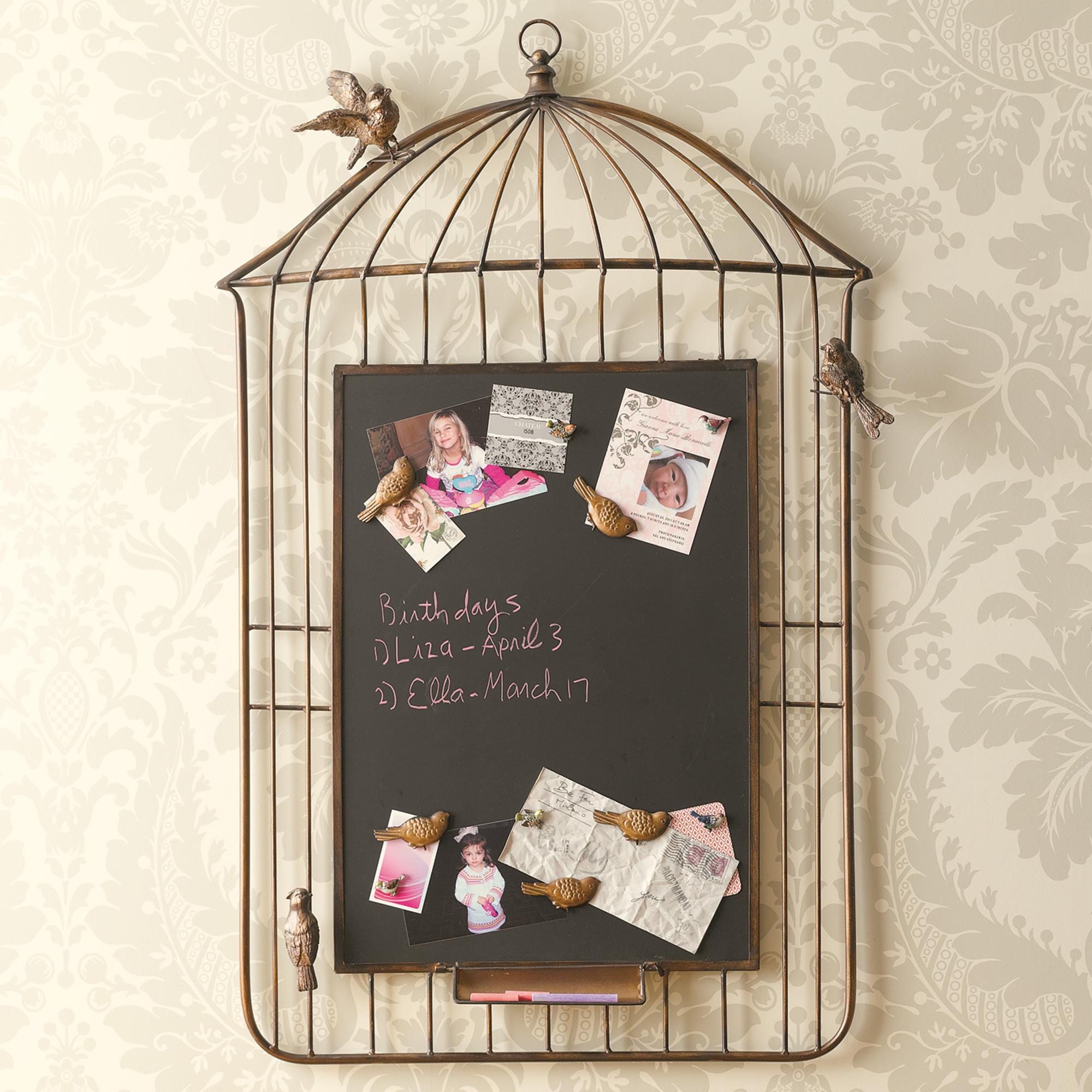 Birdcage Magnetic Chalkboard Gump S
