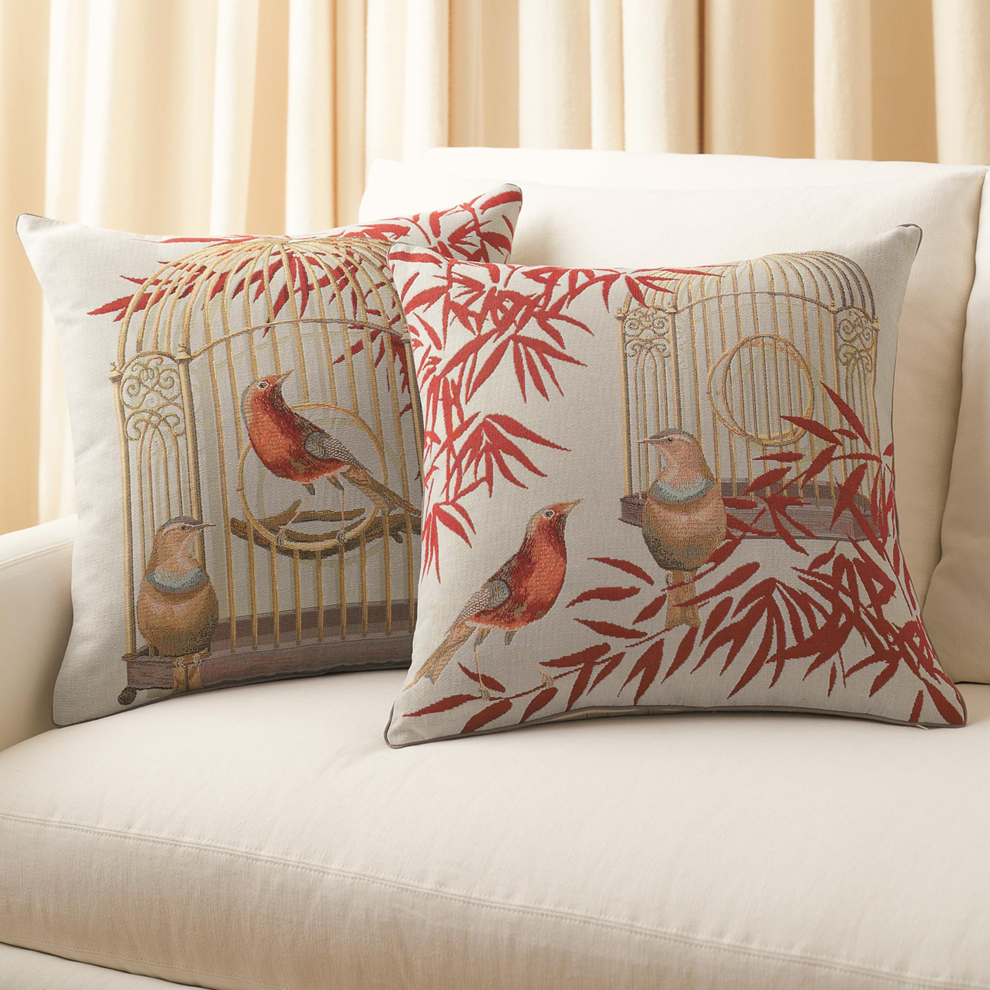 Throw Pillows Home : Birdcage Pillows Gump s