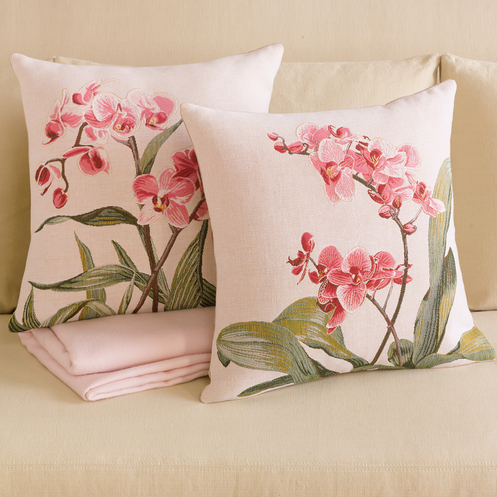 Throw Pillows Home : Orchid Pillows Gump s