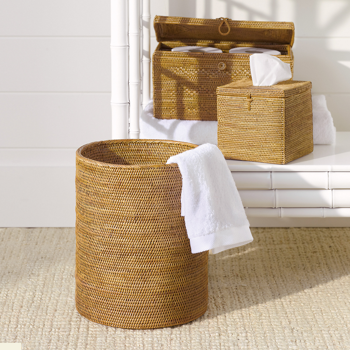 woven rattan bath accessories gump 39 s