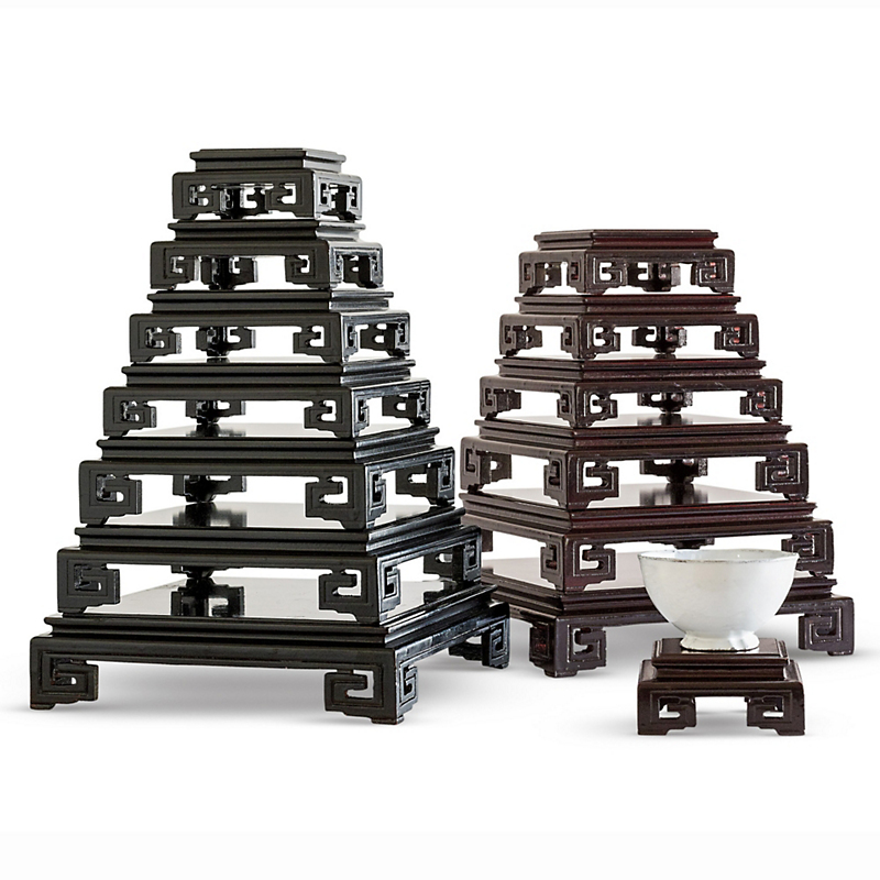 Hand-Carved Display Stands