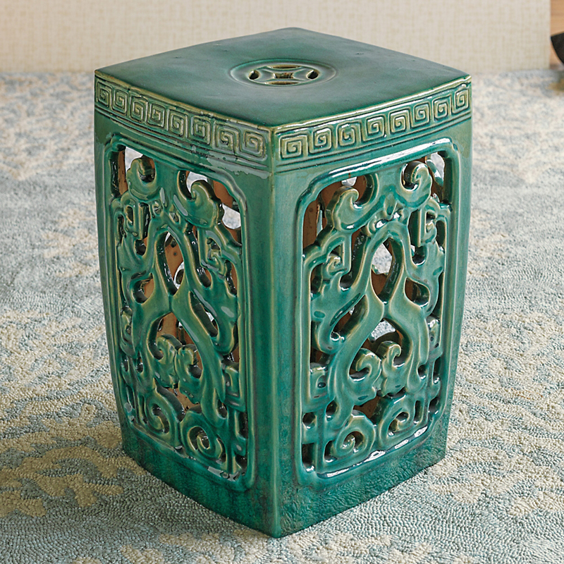 Jade Green Garden Stool