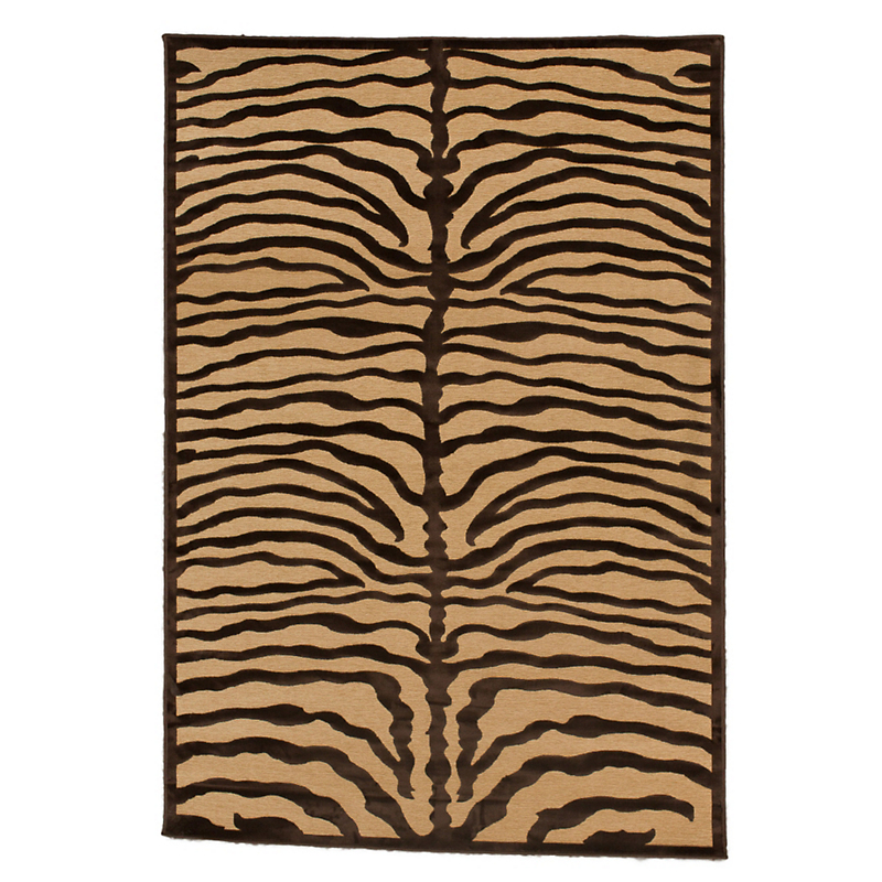 Zebra Rug, Brown