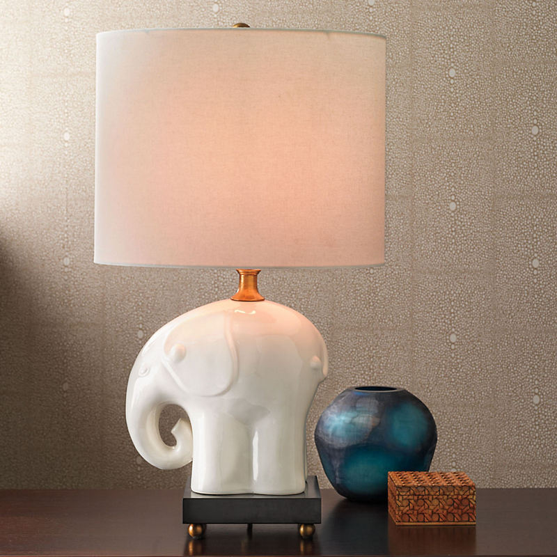 Elephant table lamp gump39s for Table lamp elephant base