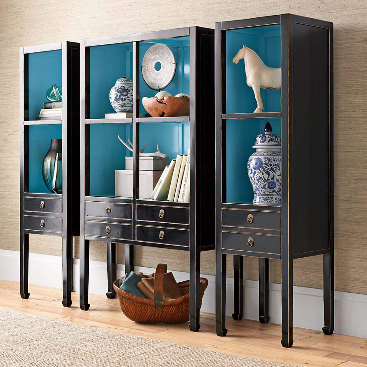 Turquoise Crawford Cabinets