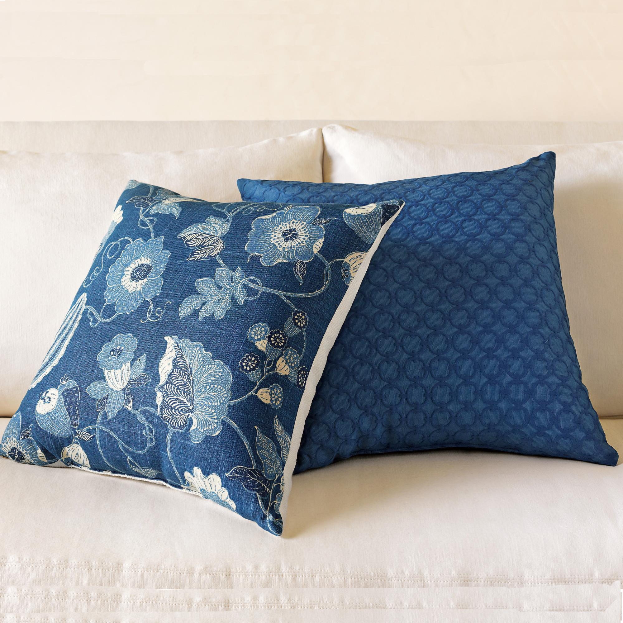 Throw Pillows Home : Indigo Pillows Gump s