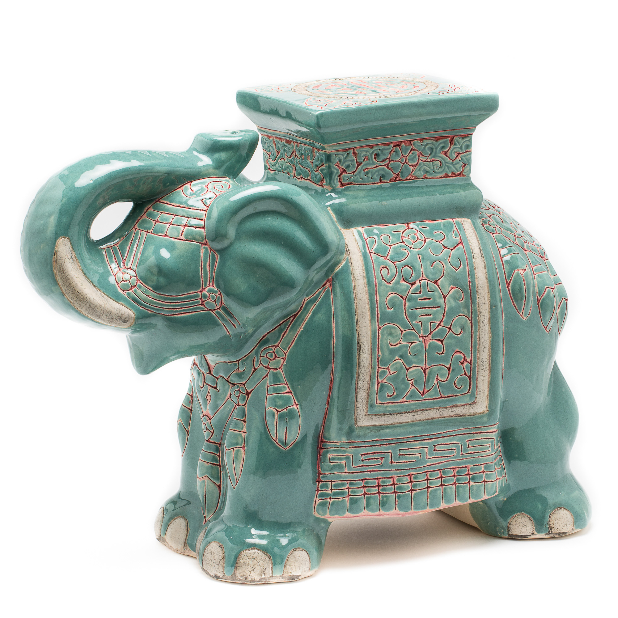 Ceramic Elephant Garden Stool Gumps