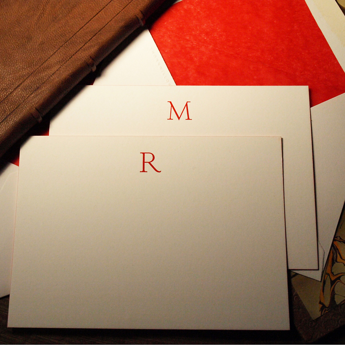 hand engraved initial stationery gump s