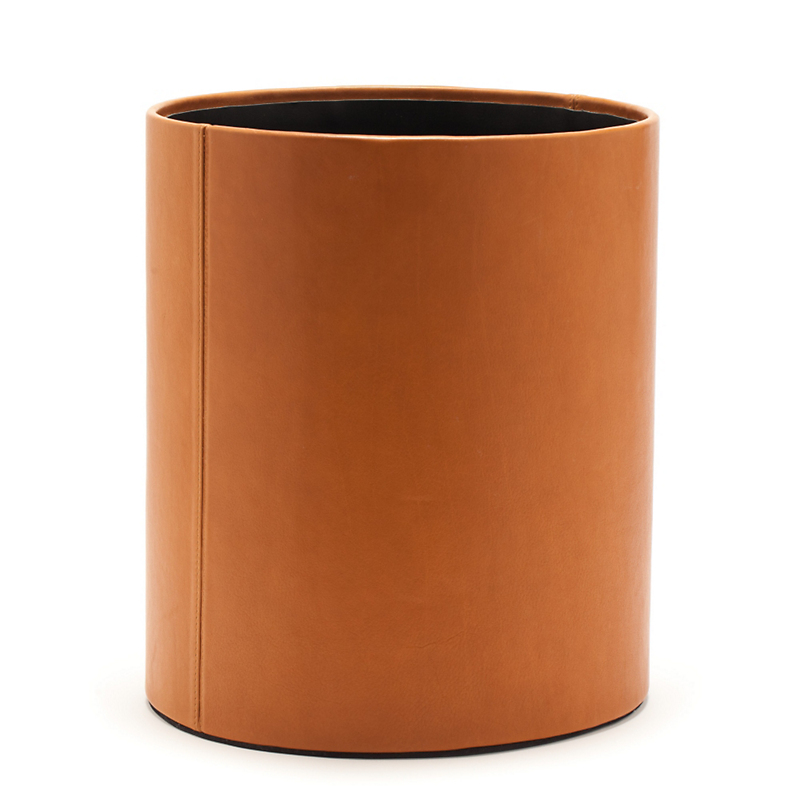 Graphic Image Leather Waste Basket