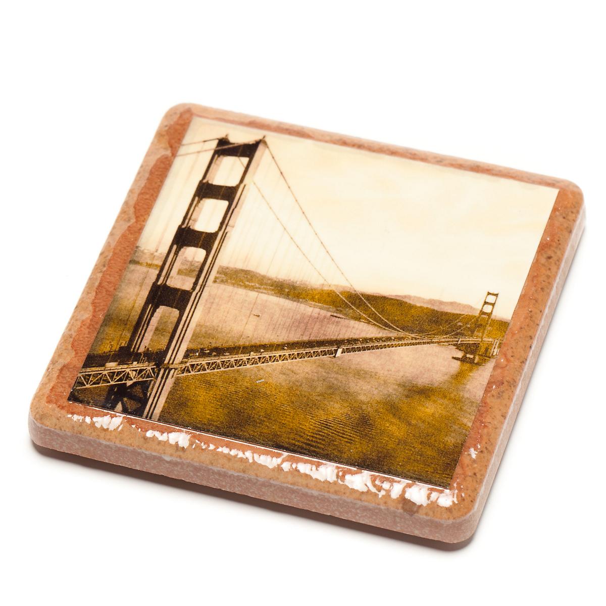 San francisco golden gate bridge coaster gump 39 s for Golden gate bridge jewelry