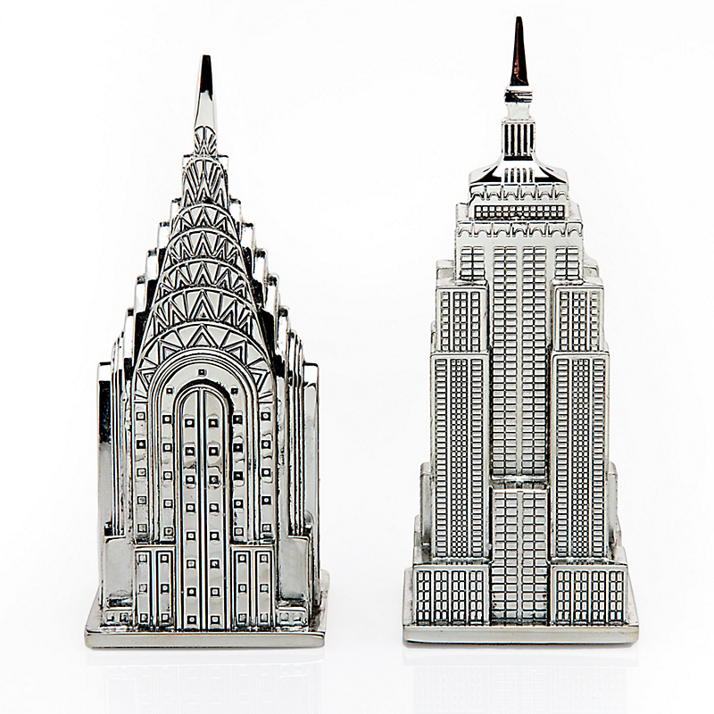 New York Salt & Pepper Shakers