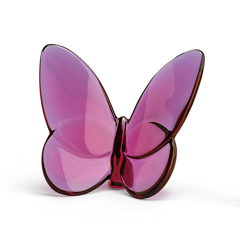 Baccarat Lucky Butterfly, Peony Pink