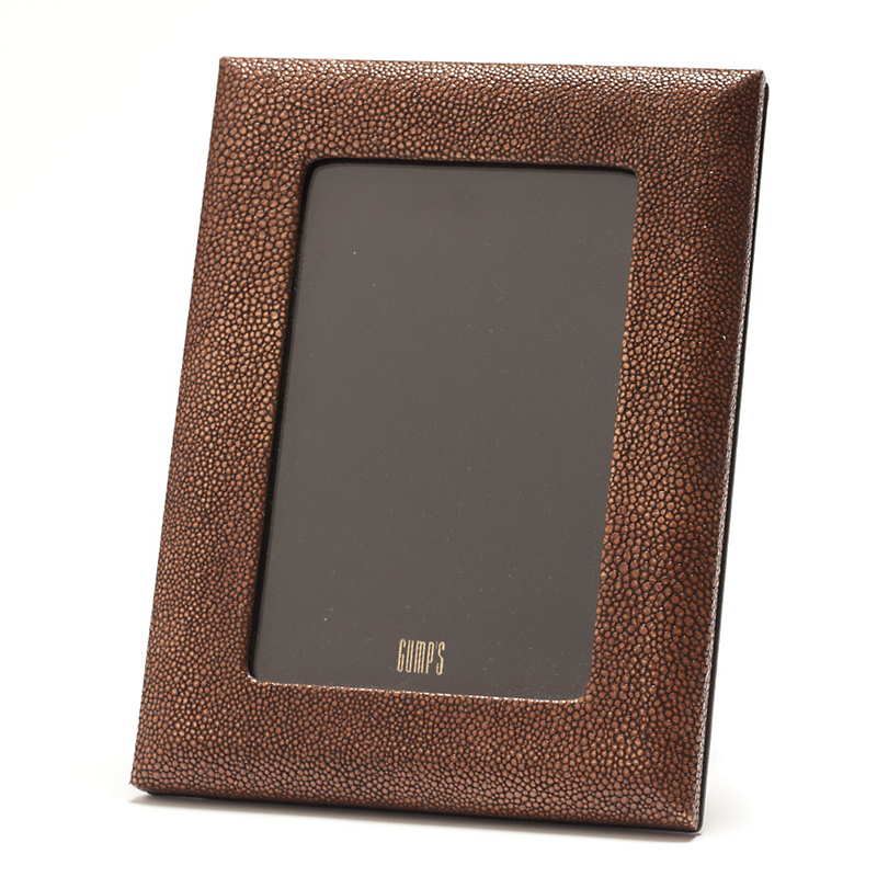 Graphic Image Shagreen Leather Frame, 4x6