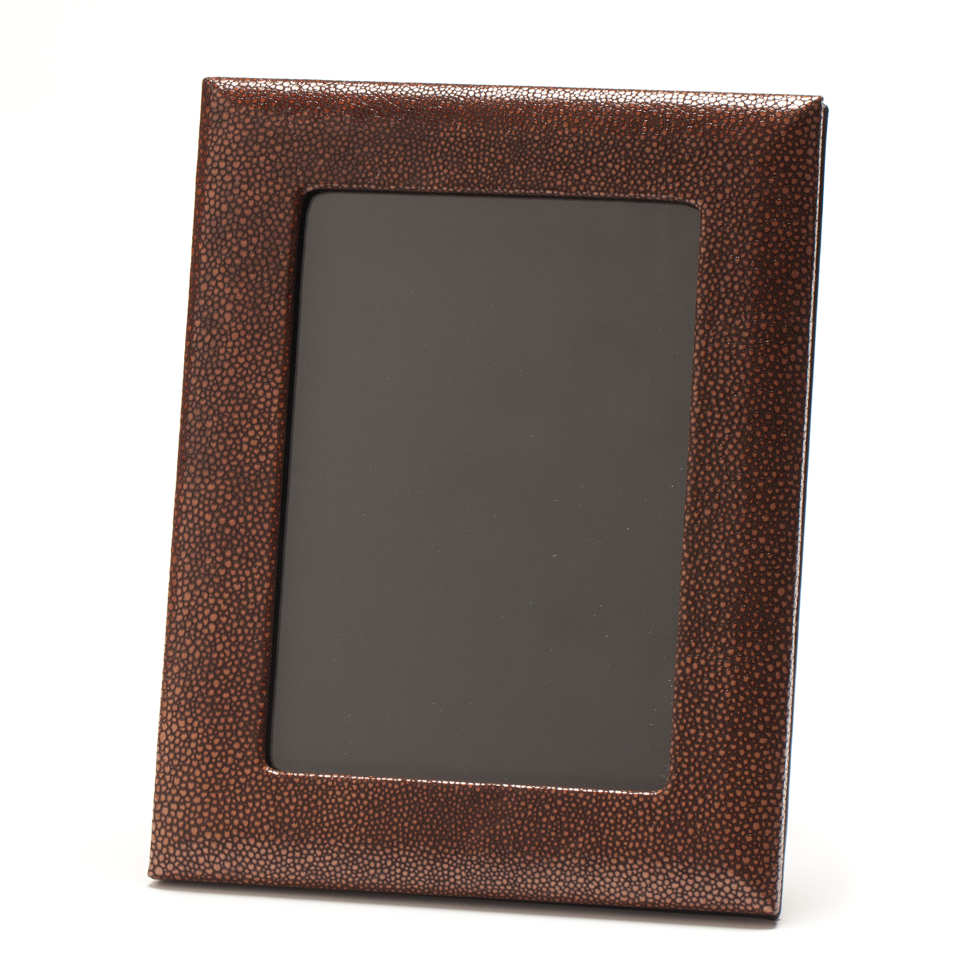Graphic Image Shagreen Leather Frame, 5x7