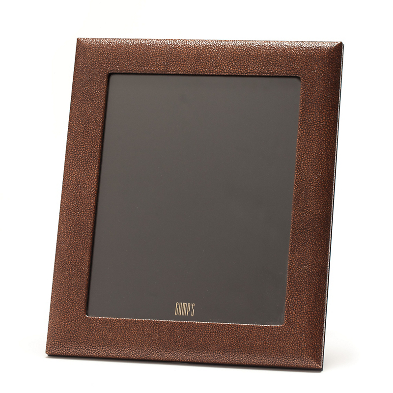 Graphic Image Shagreen Leather Frame, 8x10