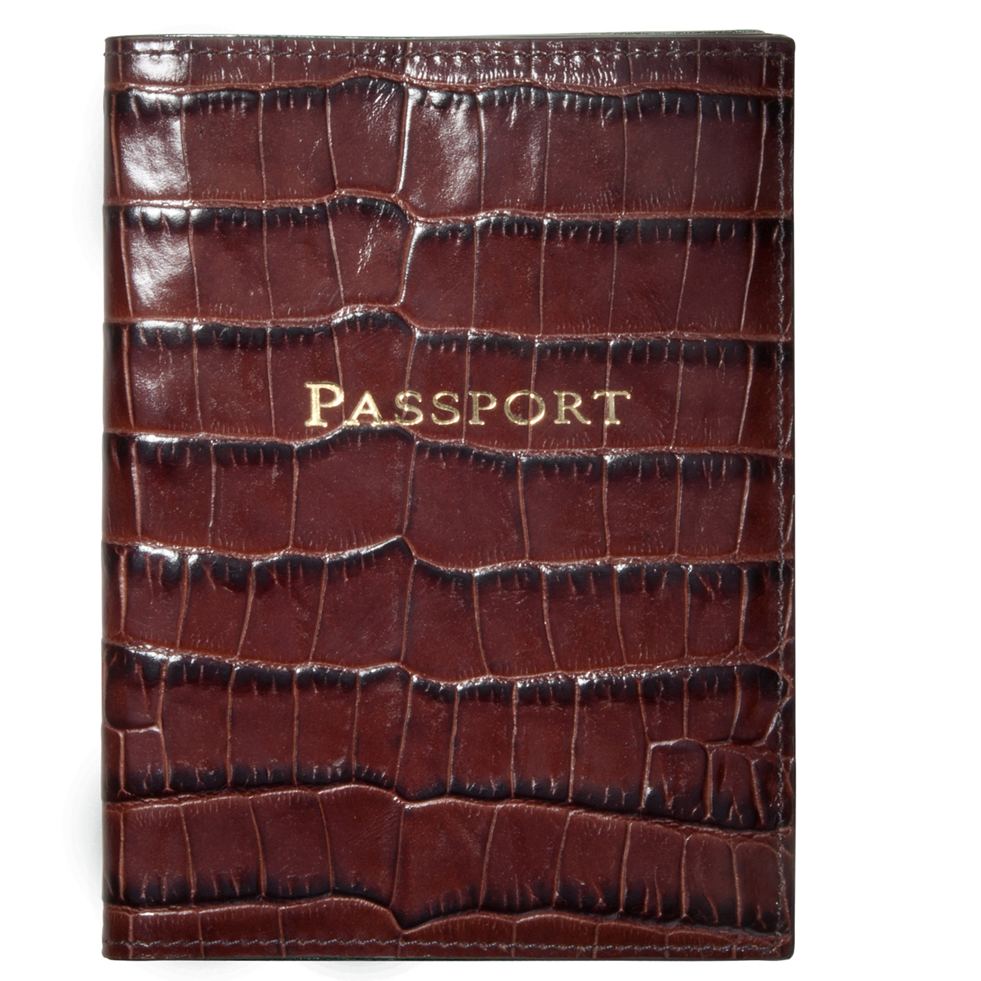 Graphic Image Croc Embossed Passport Case