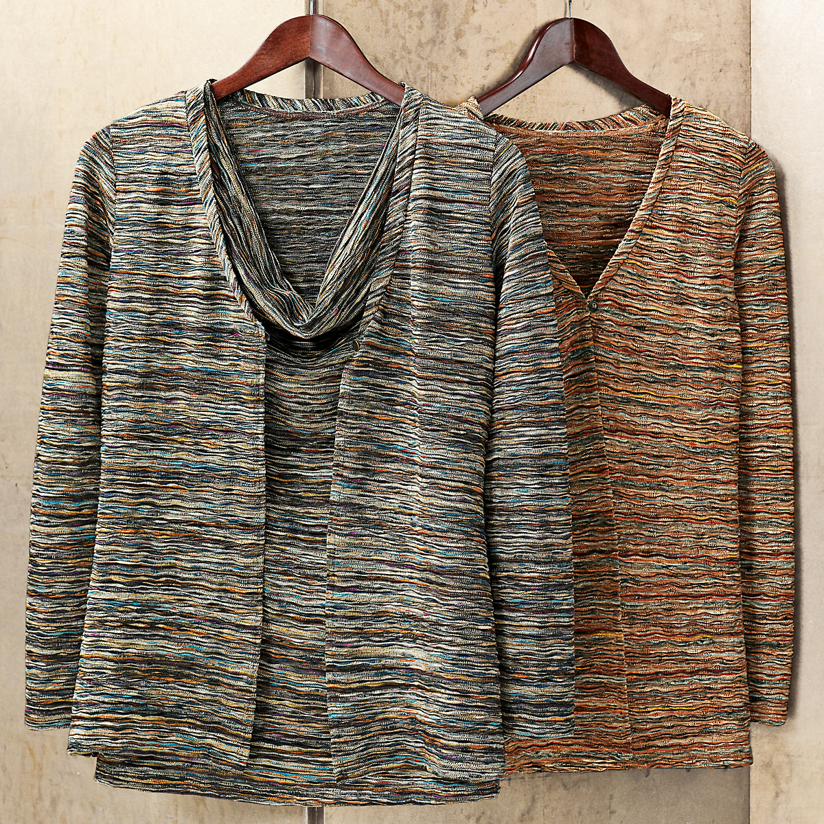 Metallic Cardigan & Shell