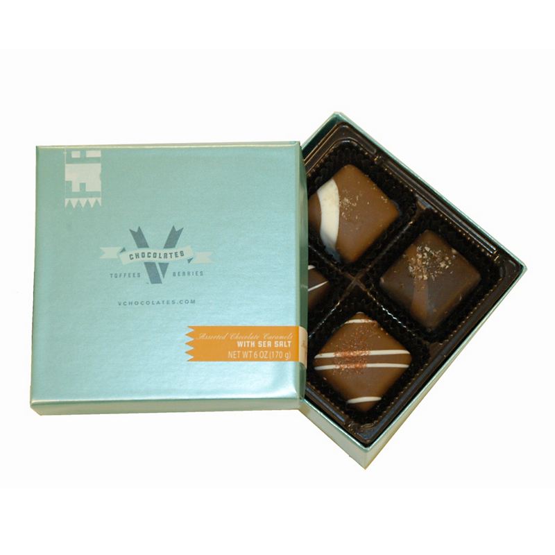 Assorted Chocolate Caramels with Sea Salt, 4 1/2 oz.