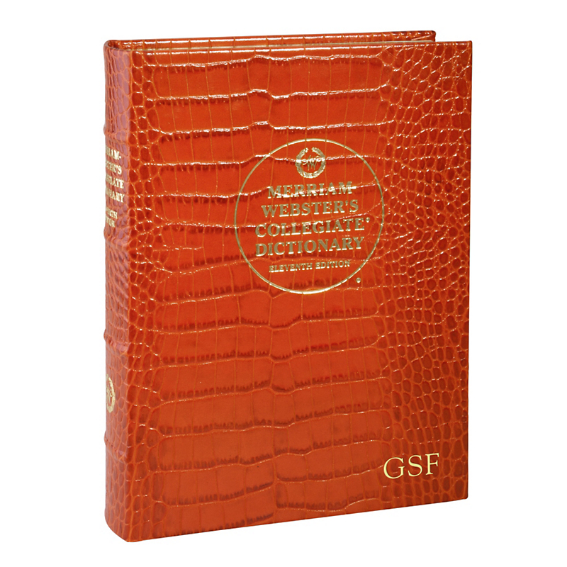 Graphic Image Personalized Croc Embossed Dictionary