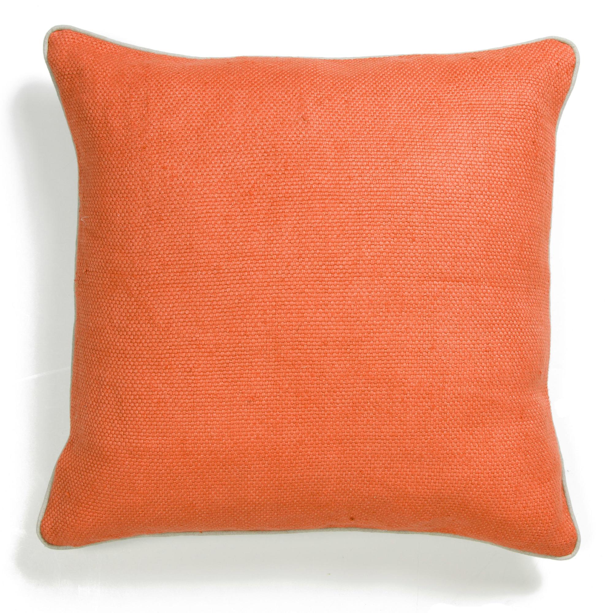 Throw Pillows Home : Orange Willow Weave Pillow Gump s