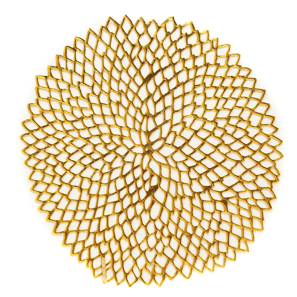 Chilewich Gold Dahlia Round Placemats Gump S