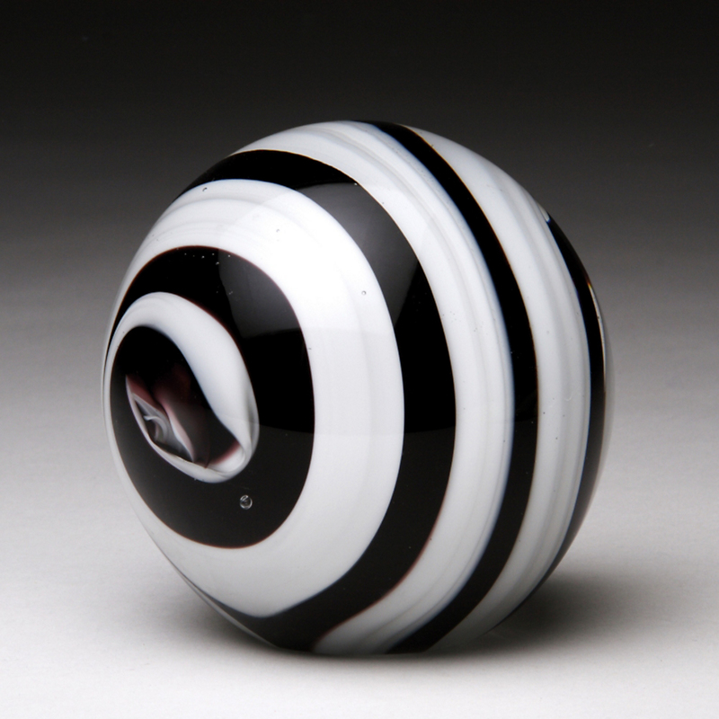Black & White Glass Paperweight