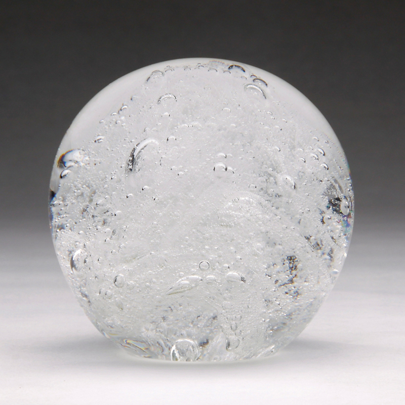 Clear Bubble Glass, Small