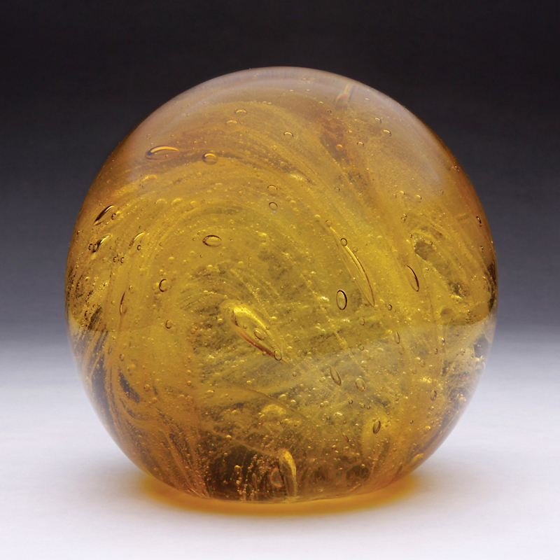 Amber Bubble Glass, Large