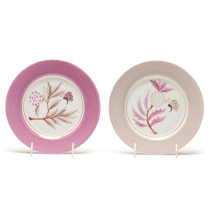 Marie daage jardin dessert plate gump 39 s for Jardin francais jewelry