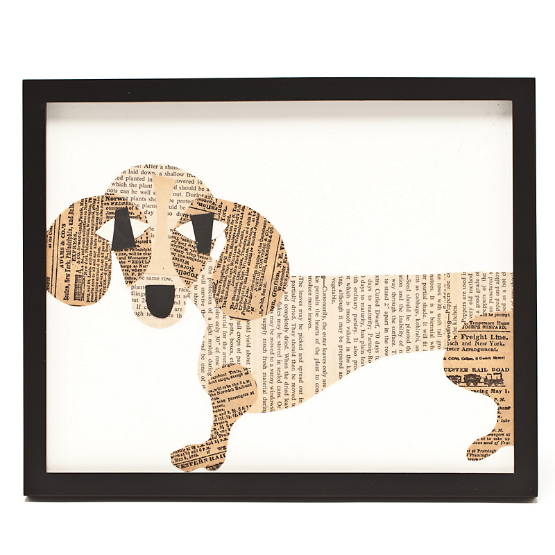 Paste Framed Dachshund Collage, 8x10