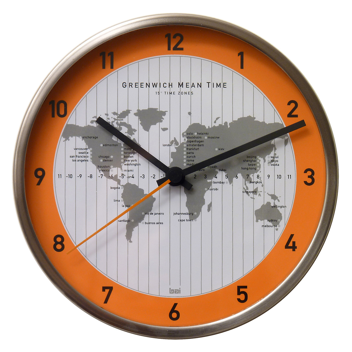 Time Zone Wall Clock Gumps