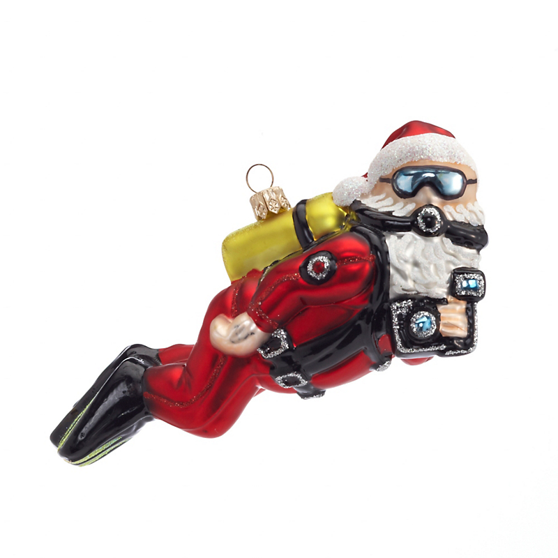 Scuba Santa Christmas Ornament