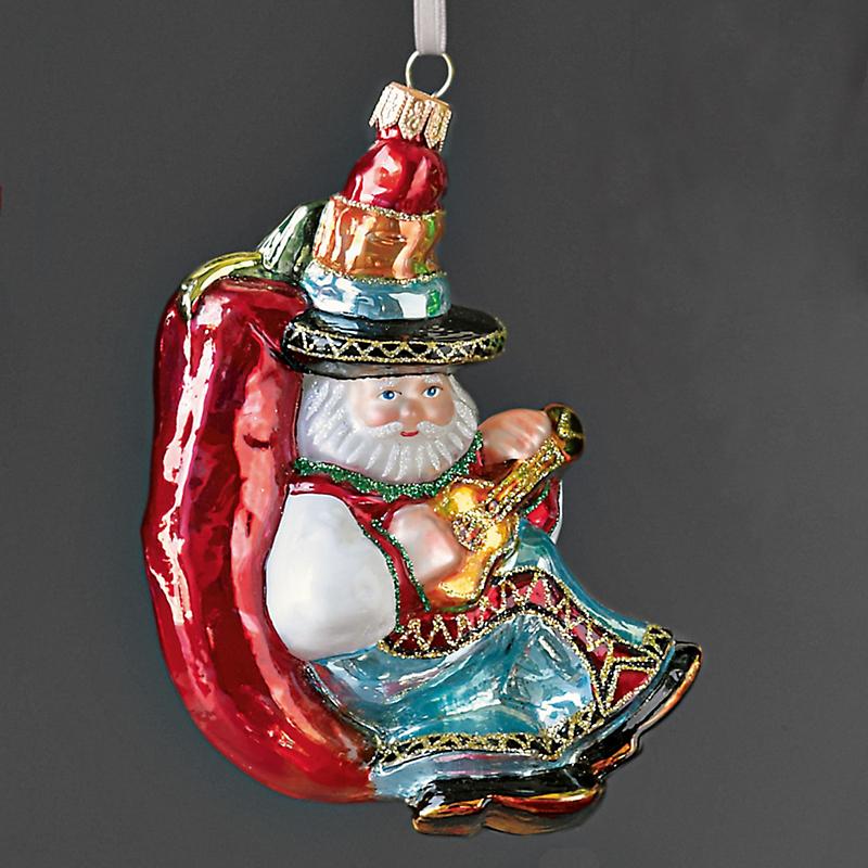 Mexican Santa Christmas Ornament