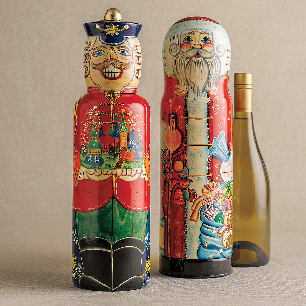 Nutcracker Wine Bottle Holder