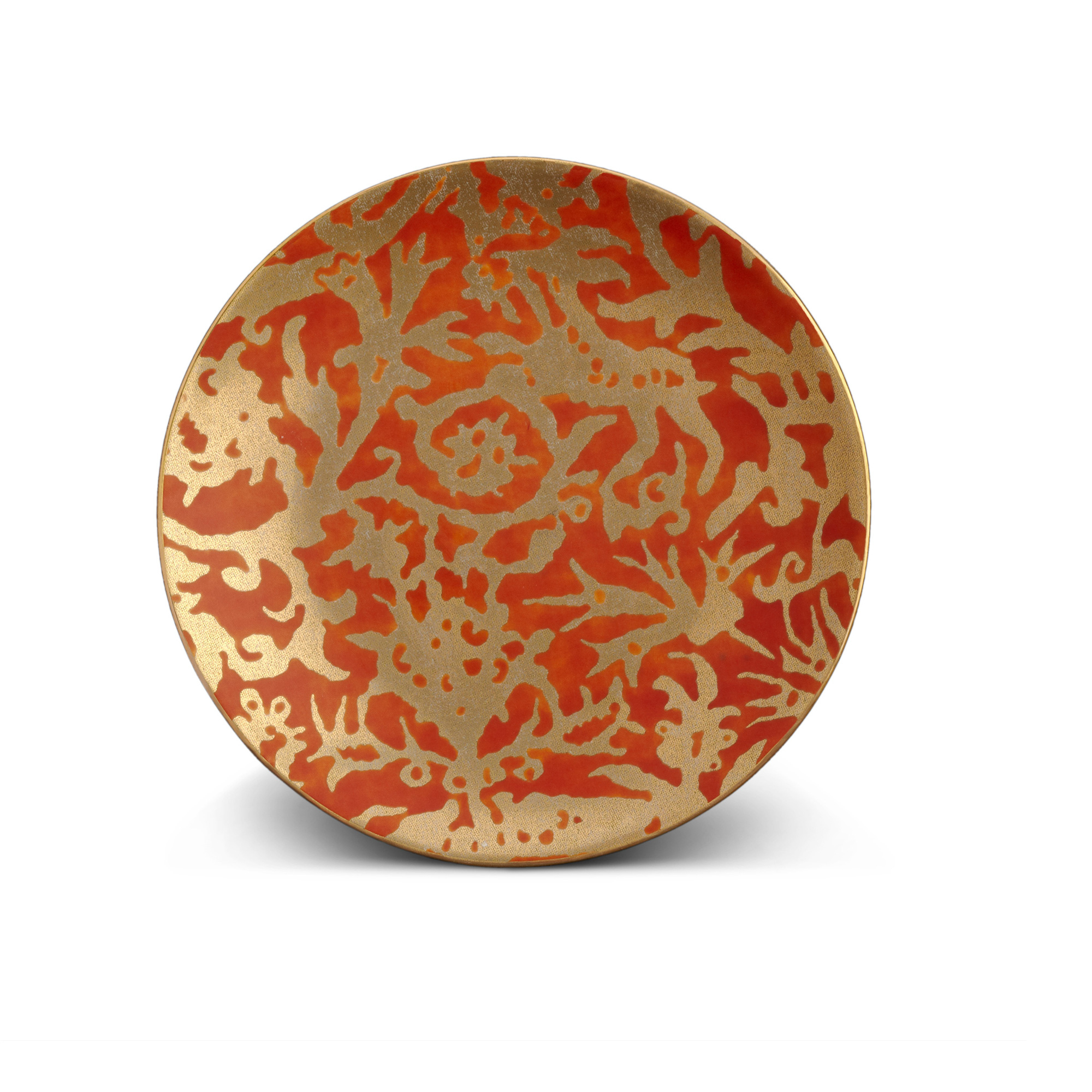 L'Objet Fortuny Pergolesi Orange Dessert Plates, Set of 4