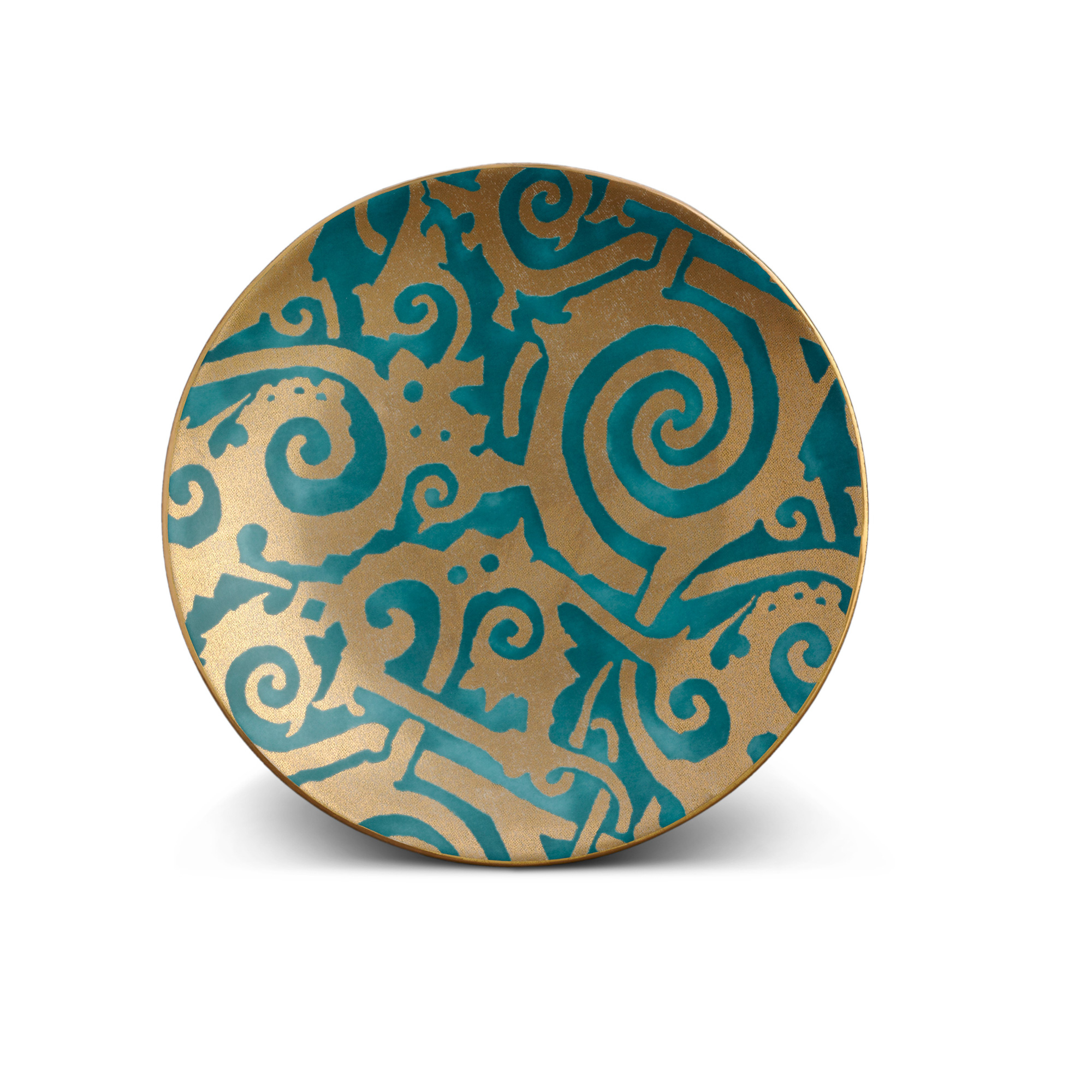 L'Objet Fortuny Maori Blue Dessert Plates, Set of 4