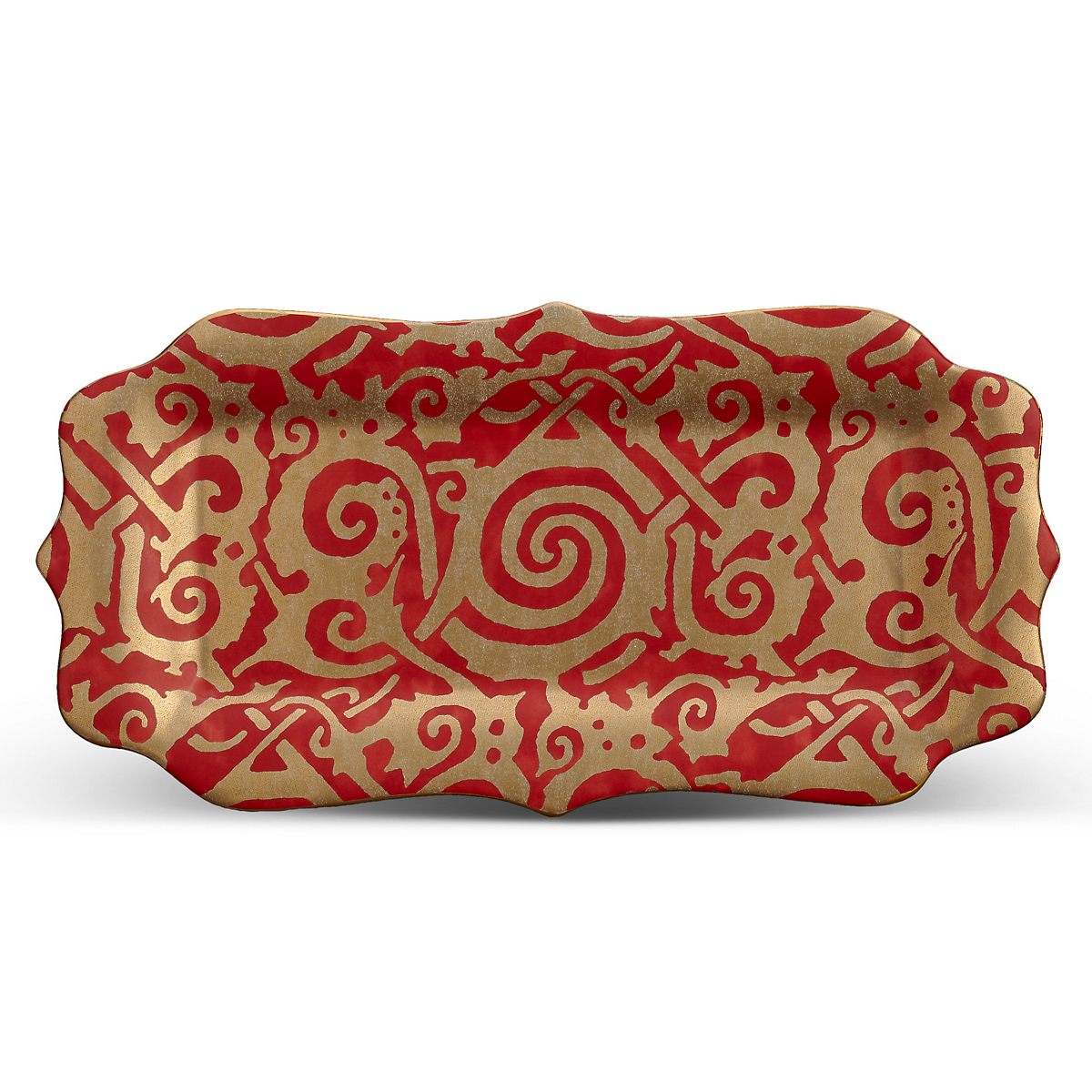 L'Objet Fortuny Maori Red Platter, Medium