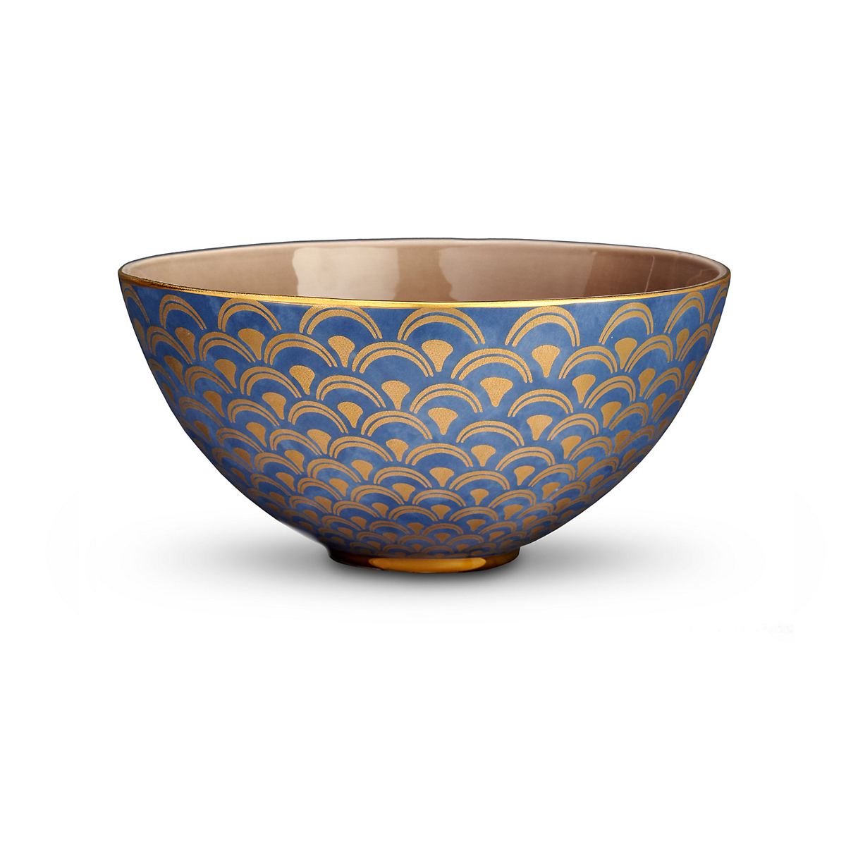 L'Objet Fortuny Papiro Blue Bowl, Large