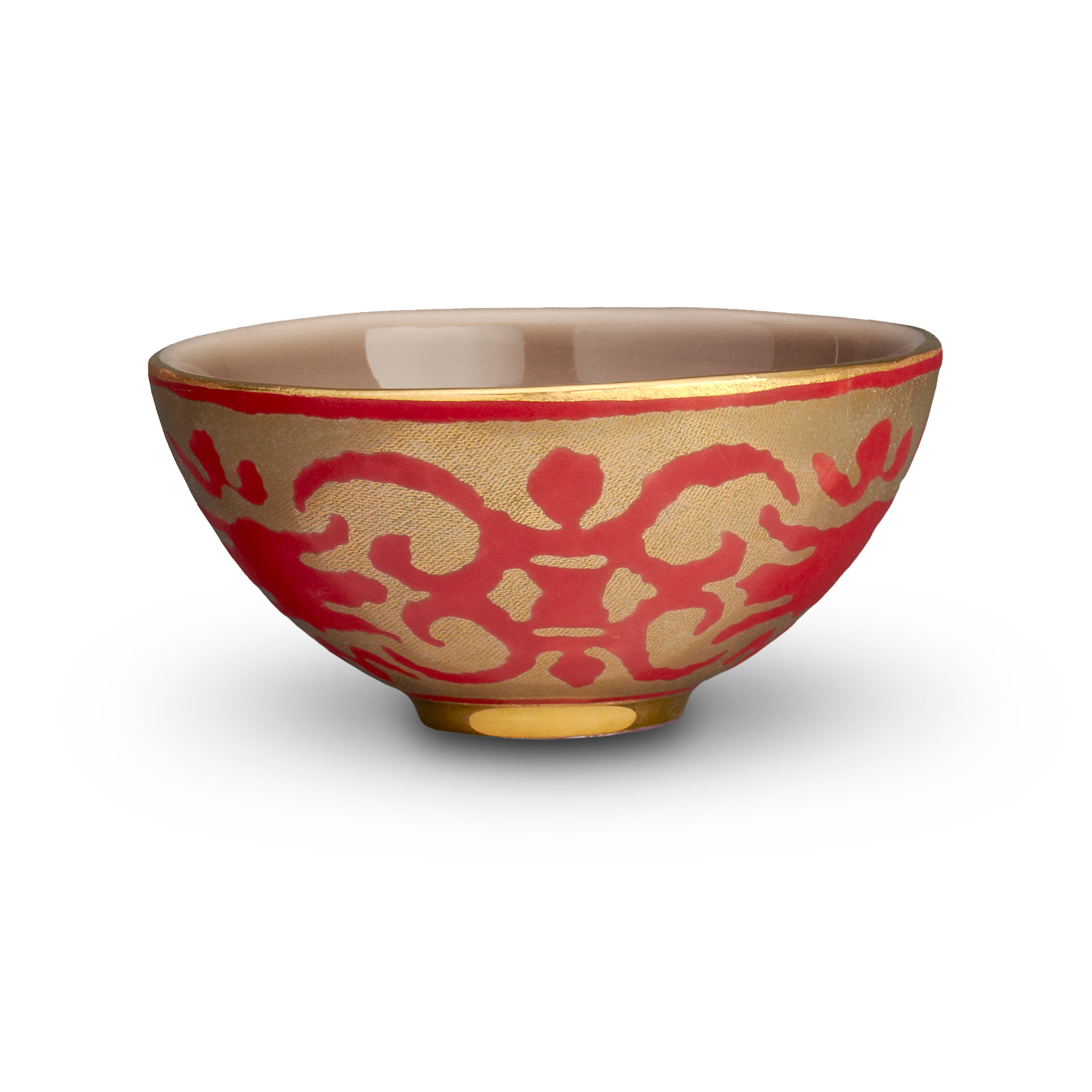 L'Objet Fortuny Renese Red Bowl, Small